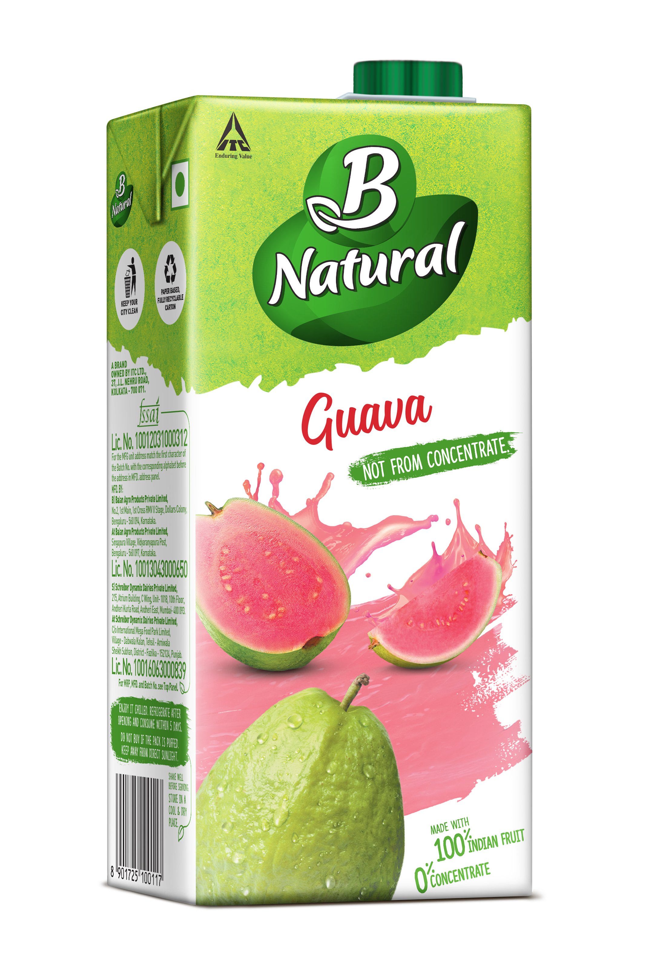 b natural beverages - guava
